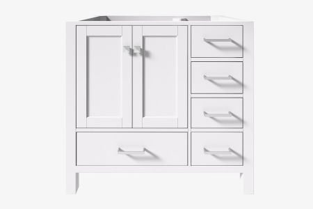 Ariel cambridge 36 in. left offset single sink base cabinet