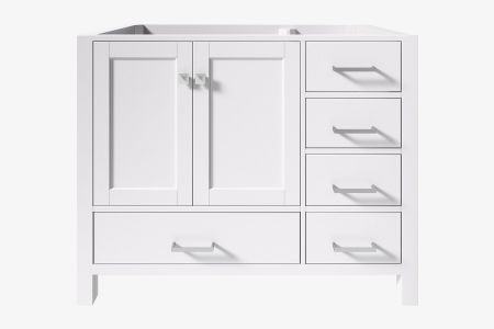 Ariel cambridge 42 in. left offset single sink base cabinet