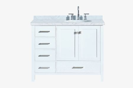 Ariel cambridge 43 in. right offset single oval sink vanity