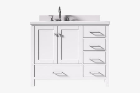 Ariel cambridge 43 in. left offset single oval sink vanity