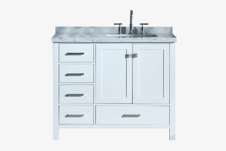 Ariel cambridge 43 in. right offset single rectangle sink vanity
