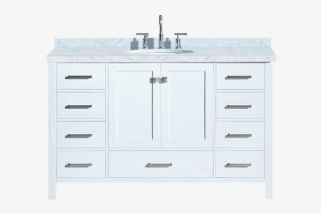 Ariel cambridge 55 in. single oval sink vanity