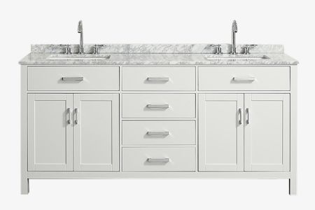 Belmont decor hampton 73 in. double sink vanity with rectangle sink