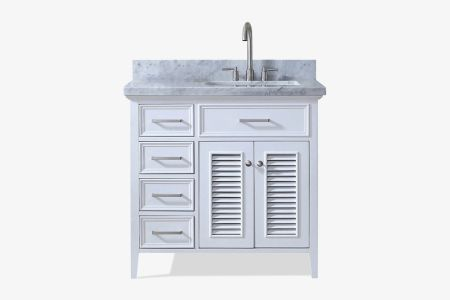 Ariel kensington 37 in. right offset single sink vanity