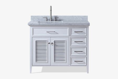 Ariel kensington 43 in. left offset single sink vanity