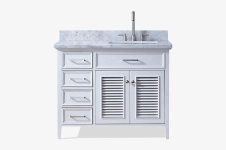 Ariel kensington 43 in. right offset single sink vanity