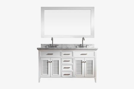 Ariel kensington 61 in. double sink vanity set