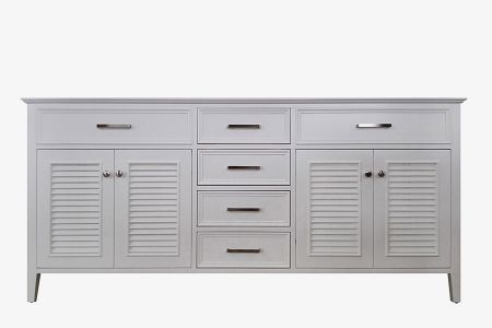 Ariel kensington 72 in. double sink base cabinet ii