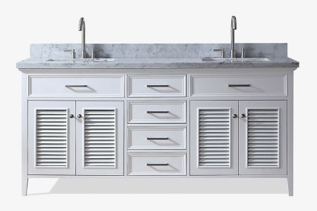 Ariel kensington 73 in. double sink vanity ii