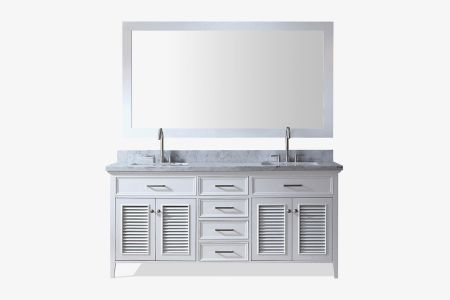 Ariel kensington 73 in. double sink vanity set ii