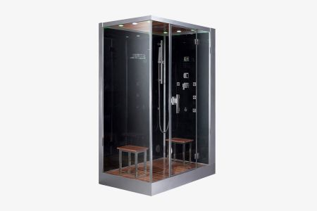 Ariel platinum dz961f8 right black steam shower