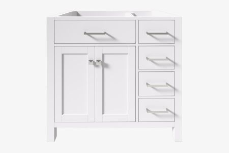 Belmont decor 36 in. left offset single sink base cabinet