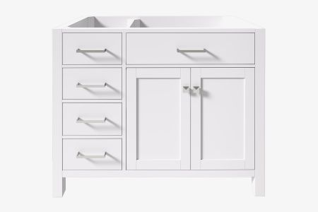 Belmont decor 42 in. right offset single sink base cabinet