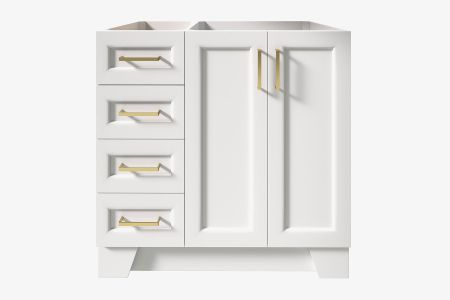 Ariel taylor 36 in. right offset single sink base cabinet
