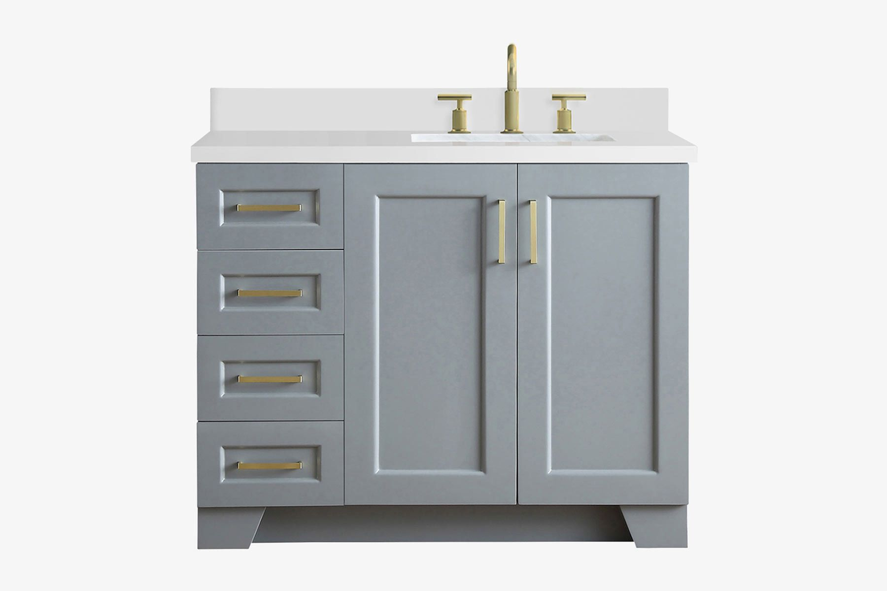 Ariel Taylor 43 In Right Offset Single Rectangle Sink Vanity In Grey